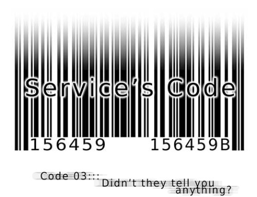 Service's Code Manga WebComic : Code 003: Didn't they tell you anything?